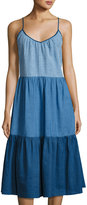 MiH Jeans Sunset Tiered A-Line Dress, Blue