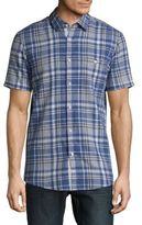 Report Collection Plaid Casual Button Down Shirt