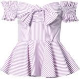 Caroline Constas striped top - women - Cotton/Acetate - S