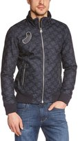 G Star G-Star Men's New Fallden Bomber Jacket in RFTO 01 Denim Allover Print