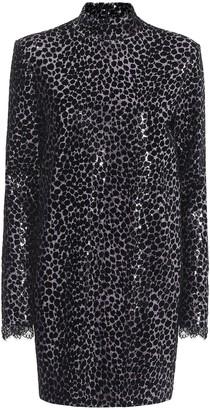 Philosophy di Lorenzo Serafini Sequined leopard minidress