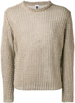Bark crewneck jumper - men - Linen/Flax - S