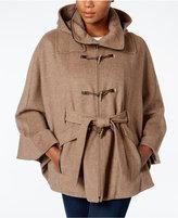 Calvin Klein Hooded Toggle Cape Coat