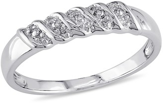 Nobrand No Brand Diamond Illusion Wedding Band in Sterling - (5)