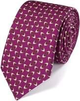 Charles Tyrwhitt Berry Wool Printed Luxury Tie