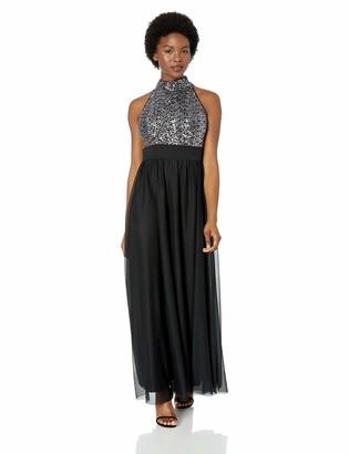 Jessica Howard JessicaHoward Women's Sleeveless Mock Neck Gown
