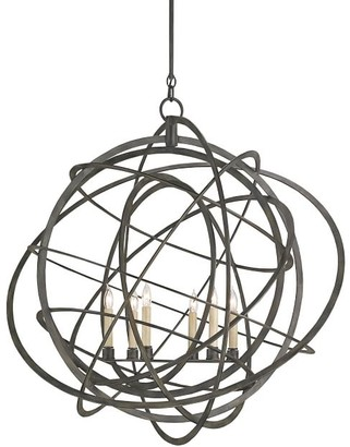 Pottery Barn Feister Iron Chandelier