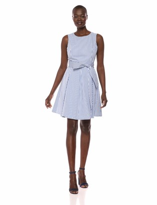 Pappagallo Women's Fit & Flare Dress with Sash
