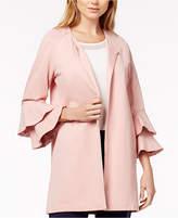 Kensie Bell-Sleeve Ponté-Knit Jacket