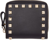Valentino Black Small Rockstud Wallet