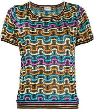 Missoni Pre Owned 1990's Geometric Knitted Top