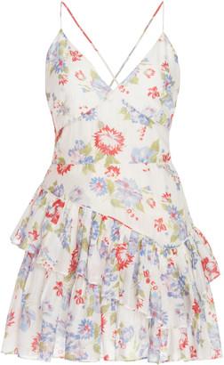 LoveShackFancy Marion Printed Cotton-Silk Dress