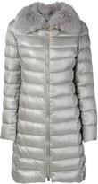 Herno puffer midi coat - women - Feather Down/Fox Fur/Polyamide - 40