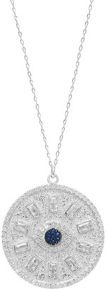 GABIRIELLE JEWELRY Love & Protection Evil Eye Sterling Silver & Crystal Necklace