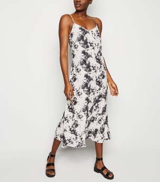 New Look Tie Dye Bias Cut Midi Slip Dress