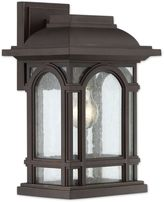 Quoizel Cathedral 13.5-Inch 1-Light Outdoor Wall Lantern in Palladian Bronze
