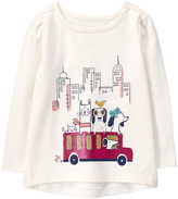 Gymboree White Dog Friends on Bus Graphic Tee - Infant & Toddler