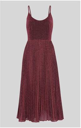 Whistles Regina Sparkle Pleated Dress