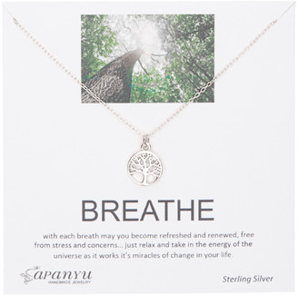 Sapanyu Women's Necklaces Sterling - Sterling Silver Breathe Inspiration Necklace