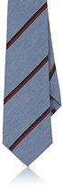 Alexander Olch MEN'S STRIPED LINEN NECKTIE