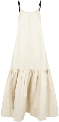 Lee Mathews Reo ecru cotton-blend maxi dress
