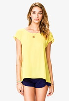 Forever 21 High-Low Chiffon Top
