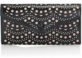 Azzedine Alaia Louise Lasercut Leather Envelope Clutch