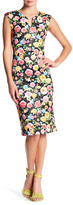 ECI Cap Sleeve Floral Scuba Dress