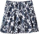 Joe Fresh Women's Print Pleat Skirt, White (Size XS)
