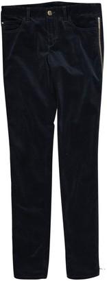 Louis Vuitton Navy Velvet Trousers for Women