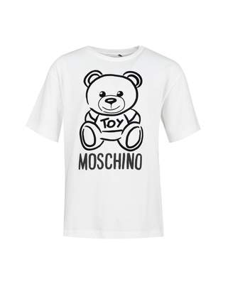 Moschino Outline Bear Maxi T-shirt Colour: CLOUD, Size: Age 4
