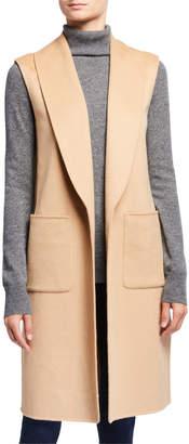 Neiman Marcus Double Face Cashmere Shawl Collar Vest