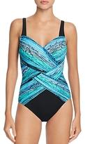 Gottex Snake Charmer Crisscross One-Piece Swimsuit
