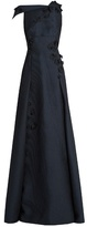 Roland Mouret Rocher floral-embroidered embossed-organza gown