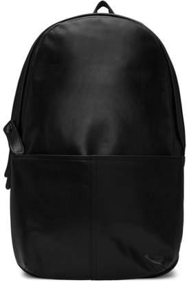 Yohji Yamamoto Black Leather Day Backpack