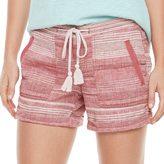 SONOMA Goods for Life Women's SONOMA Goods for LifeTM Striped Linen-Blend Shorts