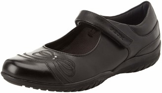 Geox Girls' Jr Shadow C Ankle Strap Ballet Flats