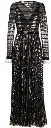 Philosophy di Lorenzo Serafini sequinned flared gown