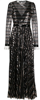 Philosophy di Lorenzo Serafini Sequinned Flared Gown