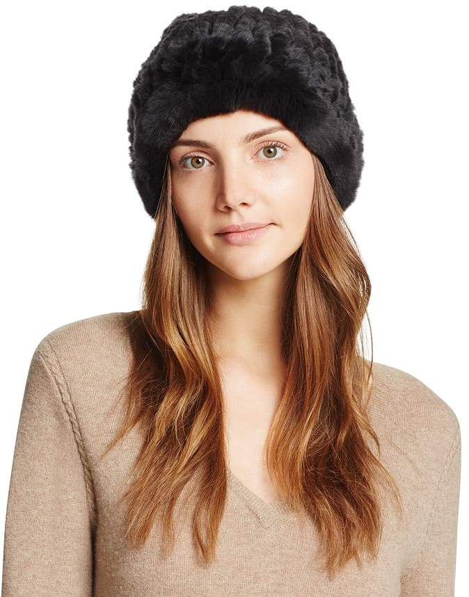 6aeef4416 Rabbit Fur Slouch Hat