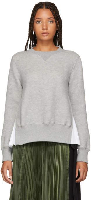 Sacai Grey Sponge Sweatshirt