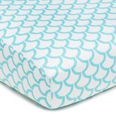 American Baby Company 100% Cotton Percale Fitted Crib Sheet, Aqua Sea Waves by