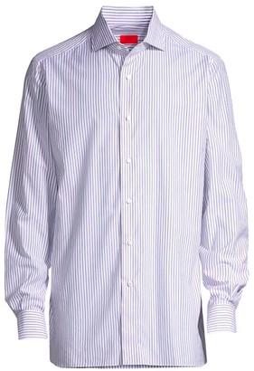 Isaia Stripe Dress Shirt