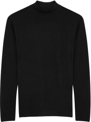Vince Black High-neck Wool-blend Jumper