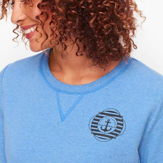 Talbots French Terry Sweatshirt - Blue Wave