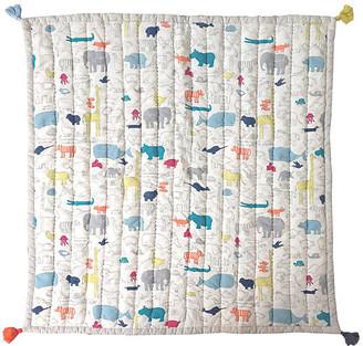 Pehr Noah's Ark Blanket - White