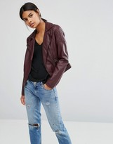 Oasis Leather Look Biker