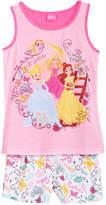 Disney Disney's 2-Pc. Princesses Cinderella, Belle & Rapunzel Pajama Set, Little & Big Girls