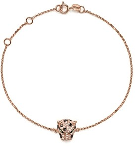 Bloomingdale's Diamond and Tsavorite Panther Bracelet in 14K Rose Gold