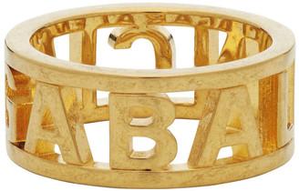 Balenciaga Gold Logo Ring